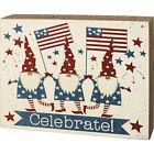 Celebrate USA Patriotic Gnomes Box Sign