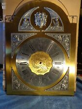 Bass Grandfather Clock Dial with Pewter Decorative Attachments and Engravings #2