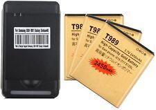 3X 2450mAh High Capacity Batteries + USB Wall Charger - Galaxy S2 T-Mobil T989
