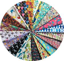 Childrens Nursery Animals Collection 20x FAT QUARTER BUNDLES 100% Cotton Fabric