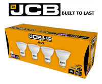 4X JCB GU10 LED BULBS Lights 5W = 50W WARM WHITE 3000K Spotlight Lamps 240V