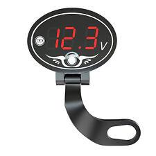12V Motorcycle Voltmeter Voltage Meter LED Digital Display Panel Waterproof E4E2