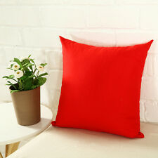 Simple Pillow Case Cotton linen Cushion Cover Plain Color Square Home Throw Sofa