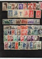 109 timbres de France avec series  + bande Pétain + bande de Gaulle neufs **