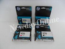 LOT-4 HP 920 Ink Cartridge Set BCMY CD971AN CH635AN CH634AN CH636AN #140 OEM NEW