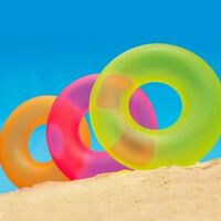 Neon Frost Inflatable Ring Float Raft Round Tube Beach Swimming Pool Accessories