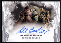 2017 Star Wars Masterwork Autograph Dee Bradley Baker as Admiral Trench Auto