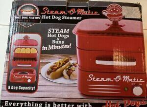 Hot Dog Steamer Steam-o-Matic Hot Dog Nation New in Box