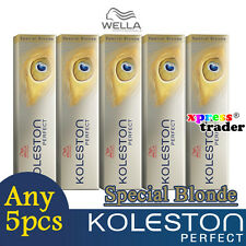 Any 5pcs - Wella Koleston Perfect Permanent Hair Dye 60g Special Blonde
