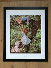 Kitten rescue - Anne Johnstone - frame 20''x16'' vintage childrens cat poster