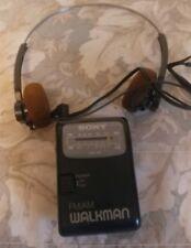 Vtg AM/FM Sony Walkman # SRF-39 w/ Belt Clip & Headphones (TRH-1)