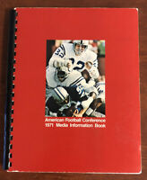 Vintage NFL 1970 American Football Conference Media Information Book 92 Pages