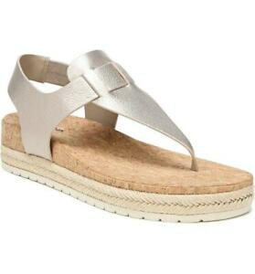 $225 - Vince Flint 2 Moonstone Leather Espadrille Sandal Size 8