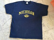 Vintage UNIVERSITY OF MICHIGAN football TRADITIONAL t-shirt tee
