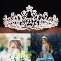 Bridal Wedding Rhinestone Crystal Tiara Hair Princess Prom Crown Headband + Comb