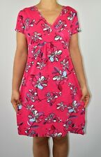 Mantaray Floral Cotton Pink Aline Dress Cruise Holiday Casual Beach Size 12 AR