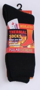 Polar Extreme Insulated Thermal Socks Mens Solid Dark Colors 1-Pair