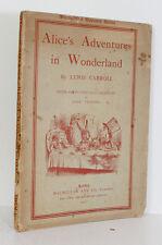 Alice Adventures in Wonderland Lewis Carroll Illustrated John Tenniel 1902 Rare