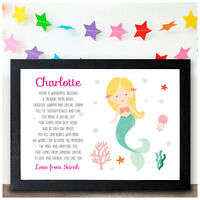 MERMAID Gifts for Daughter Granddaughter Personalised Girls Christmas Gifts Her