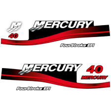 Mercury 40 Four Stroke EFI outboard decal aufkleber adesivo sticker set