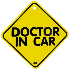 "130mm x 130mm Plastic Window Car Sign w/Suction Cup - ""DOCTOR IN CAR"" (New)"
