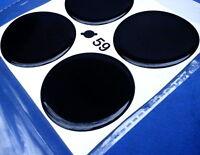 4x Schwarz Embleme für Nabenkappen Felgendeckel 59mm Silikon Aufkleber 3D 1307