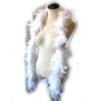 Deluxe White Feather Boa Sexy Angel Feathered Adult Costume Accessory 6'