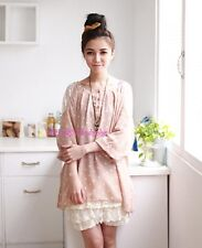 Japan Tiered Layer Mixed Lace Bloomer Slip Shorts! Cream