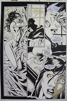 Original Art SPIDER-MAN PUNISHER FAMILY PLOT #2 pg 14 JOE BENNETT, MIKE WITHERBY