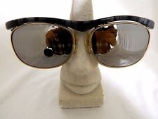 VINTAGE OPTICAL AFFAIRS G8337619/4 SUNGLASSES GREY & GOLD OVAL MIRROR COATING