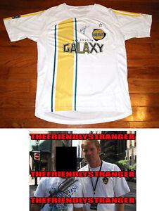 "ALEXI LALAS signed Autographed ""LOS ANGELES GALAXY"" JERSEY - PROOF - LA MLS COA"