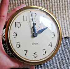 Vintage Ingraham 8 day clock face, glass and gears for parts