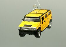 Hummer H2 Yellow Car Custom Christmas Ornament Adorno
