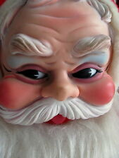 """VINTAGE CHRISTMAS RUSHTON SANTA STUFFED PLUSH RUBBER FACE 40"""" DOLL"""
