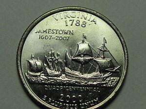 2000 P&D - Virginia Statehood Quarter Dollar Coin Set