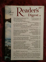 Readers Digest June 1969 Mary Astor Clark Cable James A Michener Habib Bourguiba