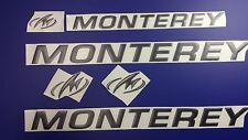 """MONTEREY boat Emblem 20"""" black + FREE FAST delivery DHL express"""