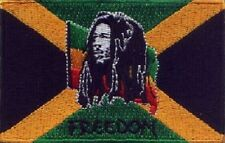 """10 Pcs Jamaica BOB (FREEDOM) Flag Embroidered Patches 3.5""""x2.25"""""""