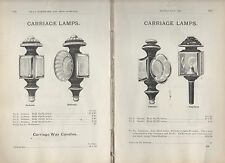 1898 ad advertising 4 styles CARRIAGE LAMPS Horse Buggy wagon oil & candle lamp