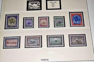 Grönland 1938 bis 2009: GUTE postfrische Sammlung in 2 Lindner-T-Alben