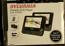 "NEW Portable DVD player w/dual 7"" wide-screens w/remote"