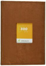 "Golden State Art  Suede Cover Photo Album Holds 300 4x6"" pictures 3 per page"