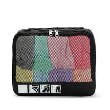 Black Packing Cube Travel Clothes Socks Shirts Storage Garment Bag Organizer  S
