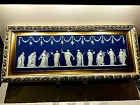 "C.1840~WEDGWOOD JASPERWARE ""APOLLO & MUSES"" PLAQUE  18"" x 6"" MINT-STUNNING RARE"
