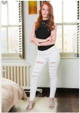 LADIES WHITE RIPPED JEANS SIZE 2XL