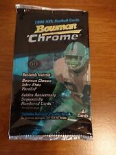 1998 Bowman Chrome Football Hobby Pack Mint from Box - Manning RC year!