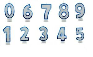 NUMBER AGE CANDLES Birthday Cake All Ages CANDLE rainbow Party Cake Decoration