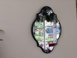 Distressed black mirror from Rockett St George