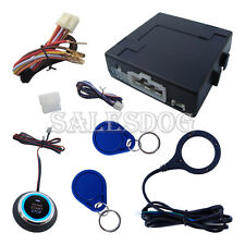 Universal RFID Car Alarm With Push Button & Remote Start Engine Stock In USA