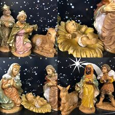 Traditional Nativity 10cm Figures Set Christmas Holy Ornament  9 Figurines 89342